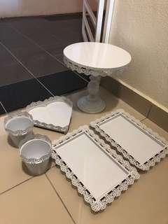 Decoration metal tray and stand