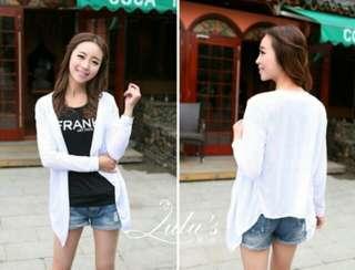 🚚 白色 罩衫