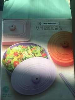 Le Creuset LC 雙層微波便當盒(紫色)未開封,台灣 7/11 LC crossover出產