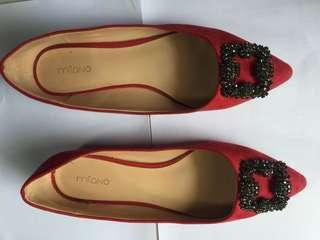 Milano Flast Shoes (Red)