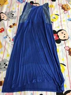 Blue Maternity and Nursing Dress