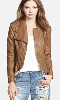 Blank NYC Faux Leather Jacket In Tan