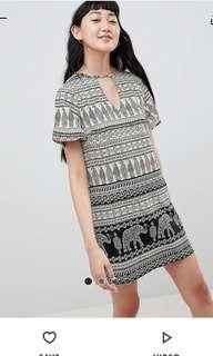 NWT Daisy Street Shift Dress in Elephant Print