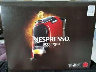 Red Nespresso Essenza Mini Coffee Machine