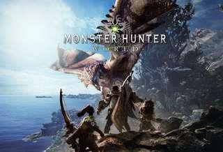 Ps4 Monster Hunter World MHW