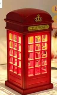 Aesthetic telephone booth lamp