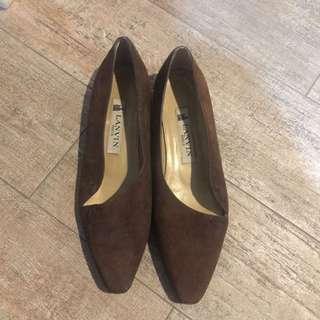 Lanvin suade flat shoes