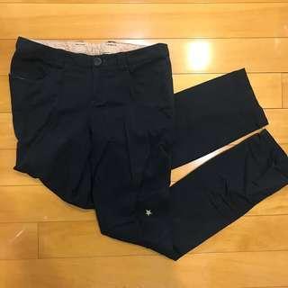 🚚 A la sha 黑色設計長褲