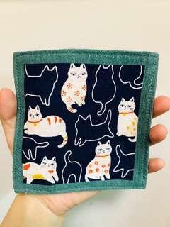 日本雙面可愛貓咪杯墊