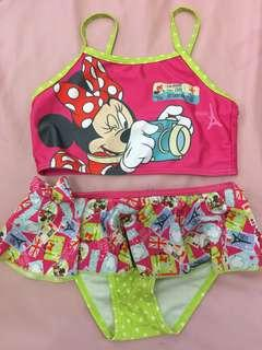 Two piece swimsuit for little girls