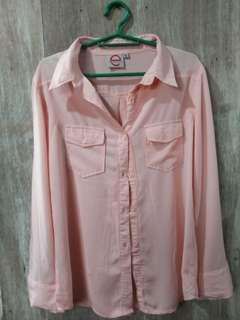 Pre loved collared pink blouse