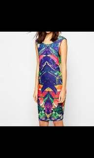 NWT Y.A.S Ursula Scoop Back dress in graphic print