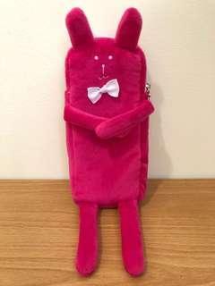 🚚 craftholic 宇宙人 筆袋 Rab 兔 素色 桃紅 蝴蝶結 星星 手機袋 錢包 小物