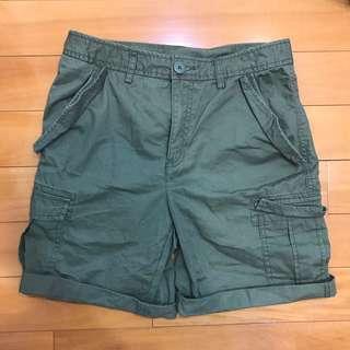 🚚 Gu 綠色工作五分褲