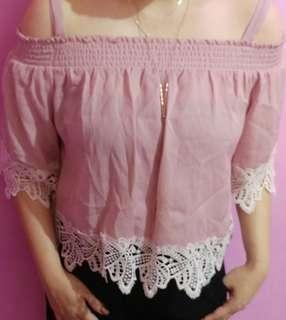 Off shoulder Pink