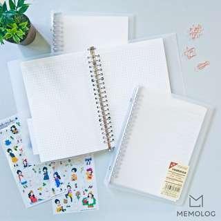 A5 Matte Semi-Transparent Loose Leaf Ring Binder Notebook Planner