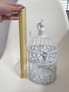 Wedding decor - white cage (28cm)