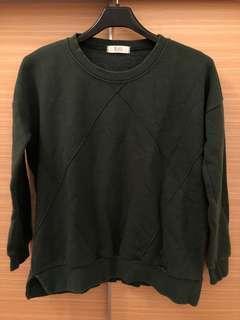 🚚 降價🧚♀️墨綠內刷毛衛衣