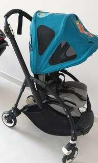 Bugaboo Bee 3 with black frame, extra seat covers and canopy