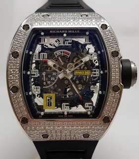 Richard Mille RM030 in 18K White Gold Top Diamonds