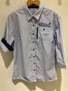 🚚 BIG TRAIN 條紋襯衫