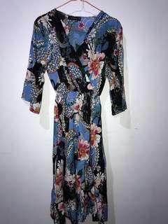 Dress biru panjang