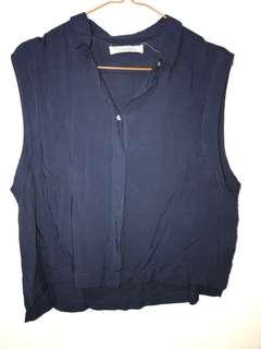 Pull and bear top navy