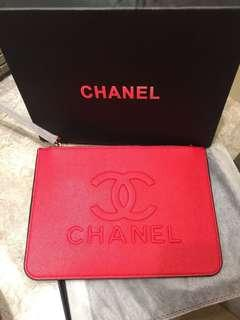 Chanel red envelope Pouch