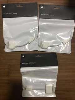 Apple Mini-DVI to VGA / DVI adapters (multiple pieces, brand new)! - PRICED TO SELL!