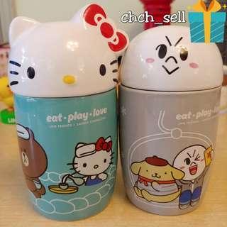 7-11 陶瓷杯 Line Friends x Sanrio 友MUG頭系列