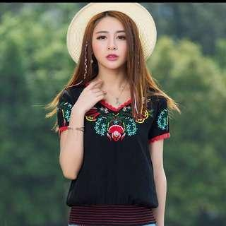 CNY Embroidered Top
