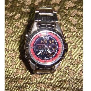 Casio 4334 EFA119BK-1AV Edifice Mens 100m 不銹鋼手錶