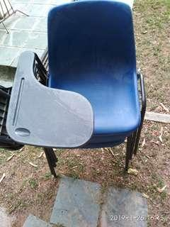 class room Chair with writing attachment.