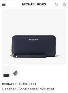 Michael Kors - Continental Wristlet in Navy BNWT