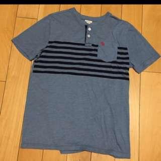 🚚 A&F Abercrombie & Fitch 麋鹿 AF 素TEE 短袖上衣T恤