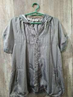 Pre loved Gray blouse with hood