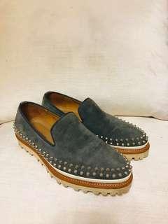 手工麂皮休閒鞋 25公分