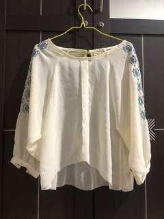 Sheer blouse pattern