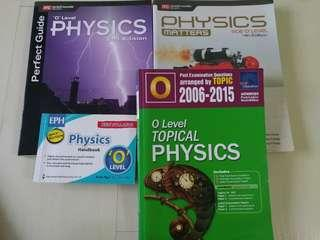 Physics O level texbook and guide books