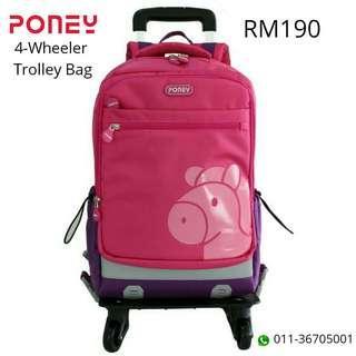 PONEY 4-Wheeler Trolley Bag (Authentic / Original)