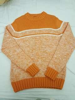 🚚 出清橘色厚毛衣