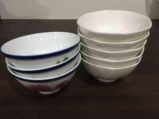 🚚 瓷碗5+3件