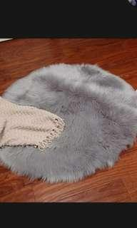 Faux fur for photography-gray