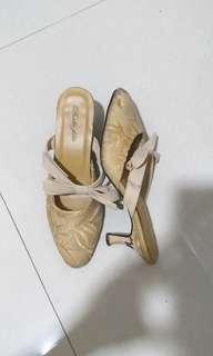 Belle Fille Lace Heel Mules