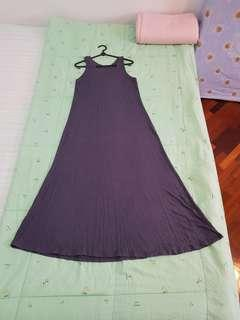 Grey casual long dress