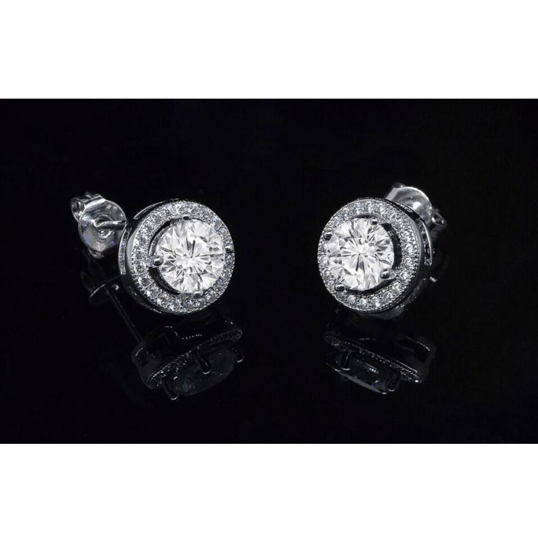 18K White Gold Plated Earrings Made with Swarovski Elements