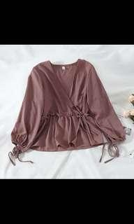 Babydoll Blouse/Top in Rose