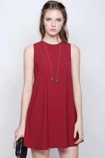 🚚 Fayth Brooke Shift Dress in Red