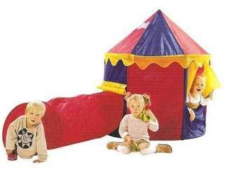 Pop up circus tent with tunnel set