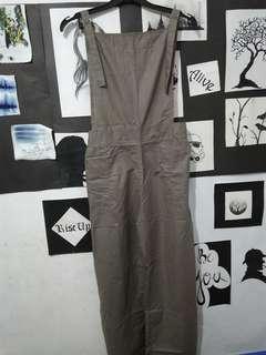 New Jumpsuit Playsuit Overall Abu-abu Baru